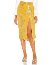 House of Harlow 1960 X Revolve Mirai Midi Skirt - Yellow