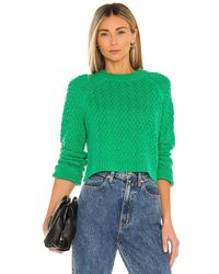 Alice + Olivia Leta Textured Pullover - Grün