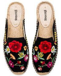 Soludos - Embellished Floral Mule - Lyst