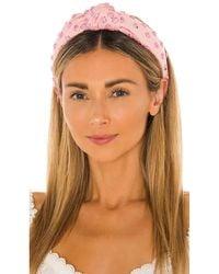 Lele Sadoughi - Обруч Studded В Цвете Bubblegum Pink Splatter - Lyst