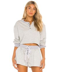 L'academie Button Front Pullover - Grey