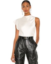 Bec & Bridge Mireille Asymmetrical Top - White