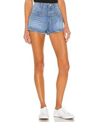 superdown Carmen Denim Shorts. Size 24, 25, 28, 29, 30. - Blau