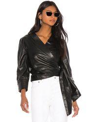 Lamarque Levora Leather Top - Black