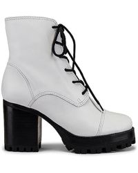 Schutz Lace Up Boot - White