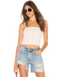 Motel - Tube Top In Ivory - Lyst