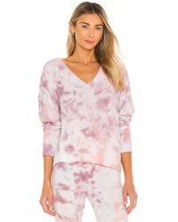 Wildfox Bbj Deep V Sweatshirt - Pink