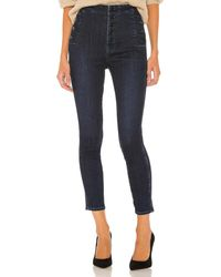 J Brand Natasha Sky High Crop Skinny. Size 29. - Blau