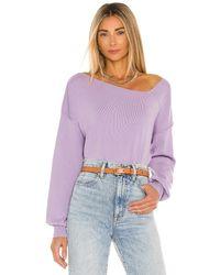 Line & Dot Favorite セーター - パープル