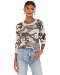 White + Warren Camo Thermal Sweatshirt - Grey