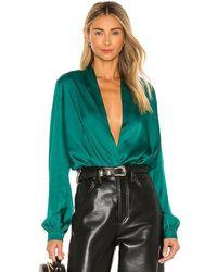 L'academie The Long Sleeve Bodysuit - Green