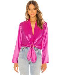 Michelle Mason Kimono ブラウス - ピンク