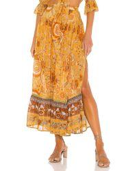 Spell Mystic Maxi Skirt - Orange