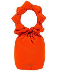 Ganni Bolso hebilla - Naranja