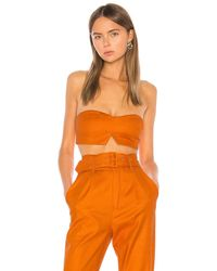 Camila Coelho Укороченный Топ Josephina В Цвете Desert Orange - Оранжевый