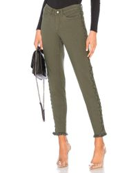 Chaser - Vintage Canvas Lace Up Frayed Utility Pant In Army - Lyst