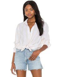 Bella Dahl Button Down Shirt - White