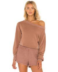 Maaji Cloudy Cropped Sweatshirt - Brown