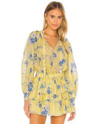 LoveShackFancy Блузка Willow В Цвете Sunshower Garden - Желтый
