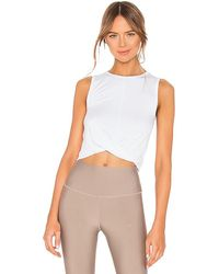 Alo Yoga Cover Tank - White
