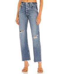 Moussy Morganfield Wide Straight - Blue