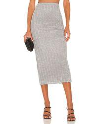 Nbd Lida Midi Skirt - Grey