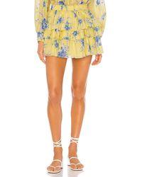 LoveShackFancy Brynlee Skirt - Gelb