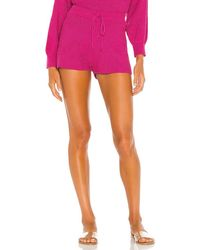 Lovers + Friends Kait Knit Shorts - Pink