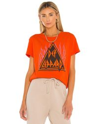 Junk Food Dep Leppard Flames Tee - Orange