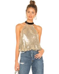 Free People - Lets Groove Tank Gold - Lyst