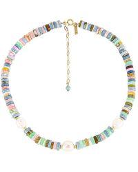 Natalie B. Jewelry Ожерелье Positano В Цвете Золотой - Металлик