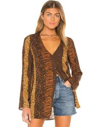House of Harlow 1960 X Revolve Amal Top - Brown