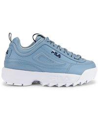 Fila Кроссовки Disruptor Ii Premium В Цвете Blue Fog India Ink & White - Синий