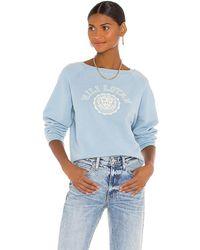 Nili Lotan Crest Crew Neck Sweatshirt - Blue