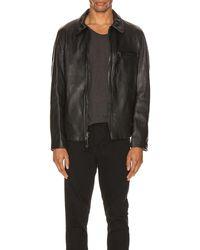 Schott Nyc Collar Lamb Leather Jacket В Цвете Черный