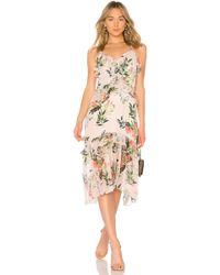 Parker - Josie Combo Dress In Blush - Lyst