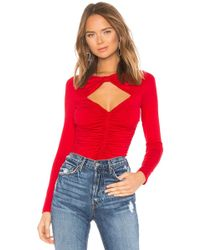 54437167b2912 Lyst - Susana Monaco Banded Off The Shoulder Top in Red