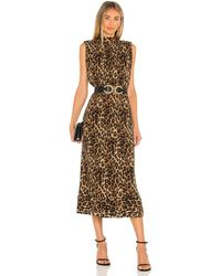 MILLY Meina ドレス - ブラウン