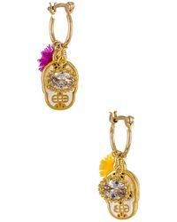 Mercedes Salazar Mini Calaquita Earrings - Metallic