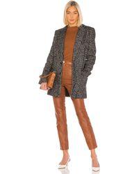 Tibi Multicolor Tweed Long Blazer - Schwarz