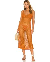 Cult Gaia Vestido midi silena - Naranja