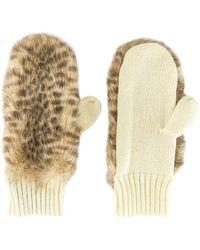 Jocelyn Faux Fur Mitten - Natural