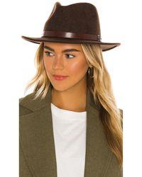Brixton Шляпа Федора Messer В Цвете Вересково-коричневый