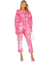 LoveShackFancy Paca Jumpsuit - Pink