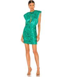 Sabina Musayev Мини Платье Harper В Цвете Изумрудный - Зеленый