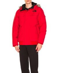 The North Face - Gotham Jacket Iii With Faux Fur Trim - Lyst