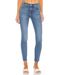 7 For All Mankind スキニー - ブルー