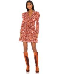 Ulla Johnson Мини Платье Prissa В Цвете Коралл - Coral,red. Размер 0 (также В 8). - Красный