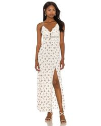 Free People Out And About Maxi Slip Dress - White