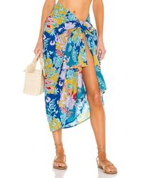 Mikoh Swimwear Пареро Ahe В Цвете Bright Flower - Синий